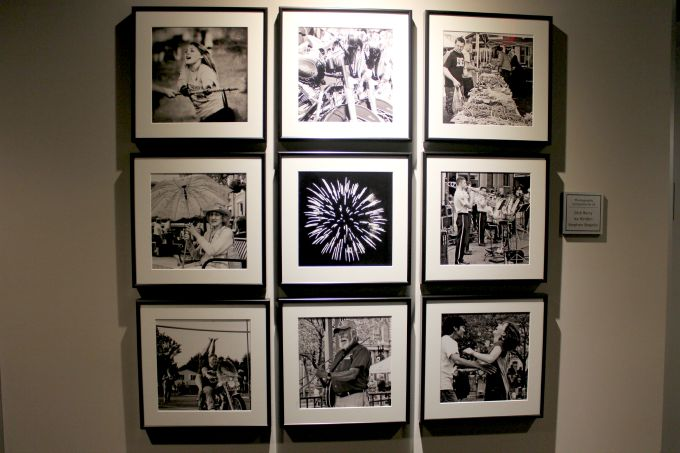 Black and white photos of the community adorn the walls at the St. Paul Hotel in Wooster Ohio.