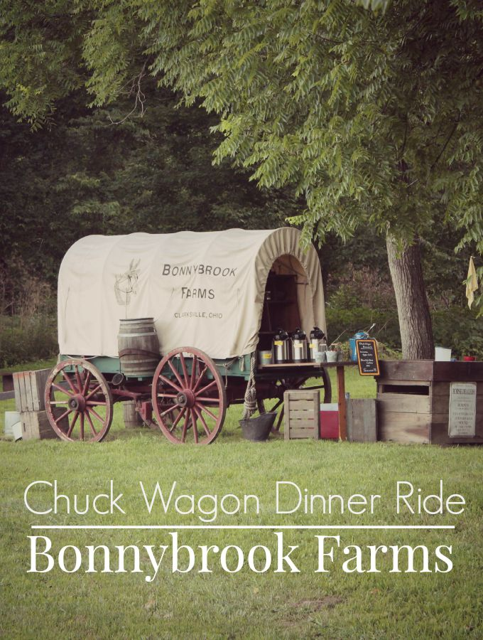 Chuck Wagon Dinner Ride at Bonnybrook Farms in Ohio. A short drive from Cincinnati., this is a fun attraction for the entire family.