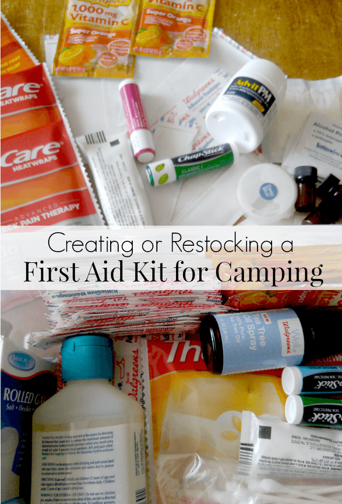 Creating or restocking a first aid kit for camping what is a necessity and what should you include
