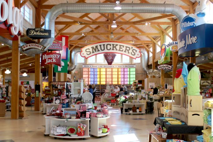 J.M. Smucker's in Wooster, Ohio is the flagship store for the company. It features an interactive museum, tasting station, Cafe and Ice cream bar.