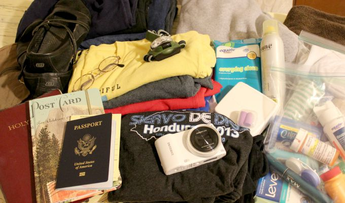 Packing for a mission trip to Honduras