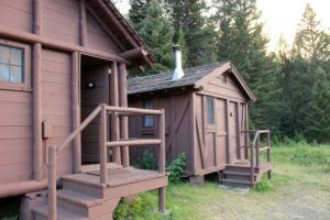 Places to stay in Yellowstone National Park- the Roughrider Cabins.
