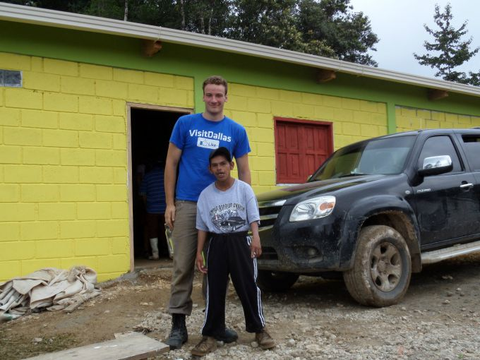 Spending time working with the Hondurans in a remote mountain village.