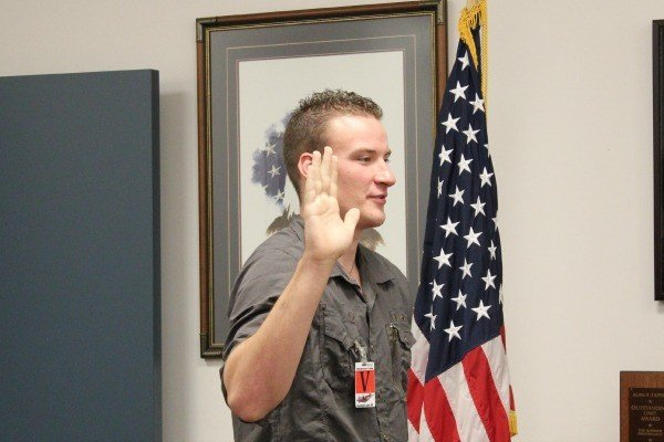 Swearing in to the military