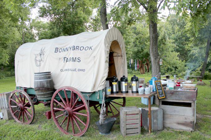 The Chuck Wagon Dinner Ride at Bonnybrook Farms in Clarksville, Ohio near Cincinnati was a hit.