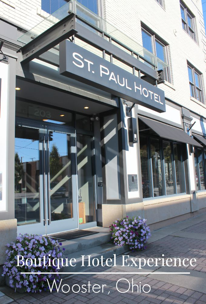 The St. Paul Hotel in Wooster, Ohio provides a unique boutique Hotel experience.