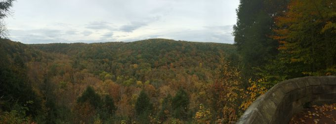 The view from the Overlook at Mohican State Park in Ohio.