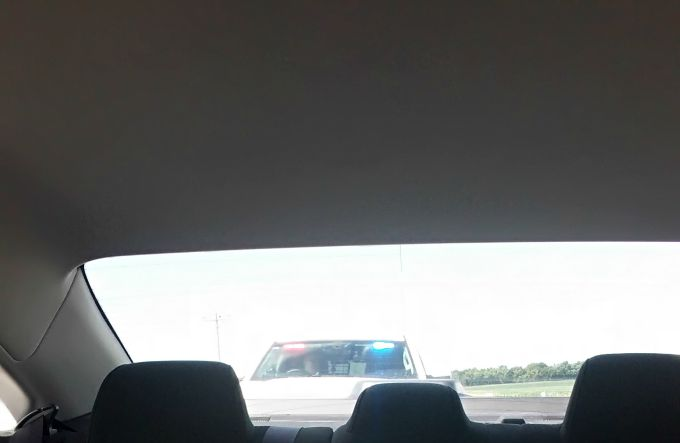 We got pulled over on our road trip.