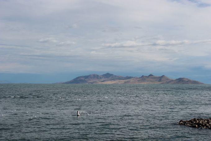 The Great Salt Lake in Utah.