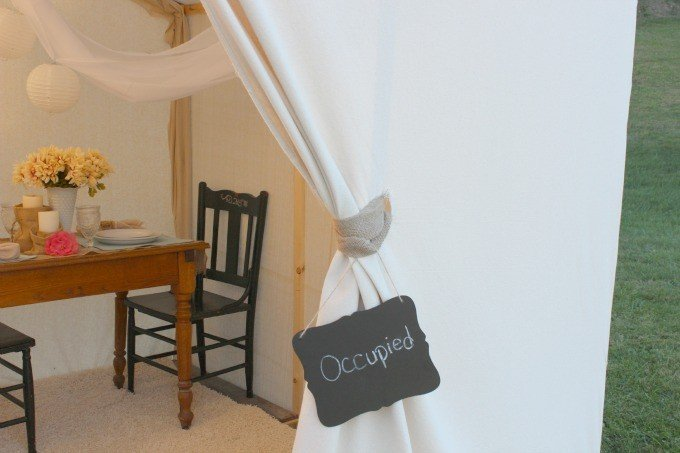 A Peek inside our glamping tent