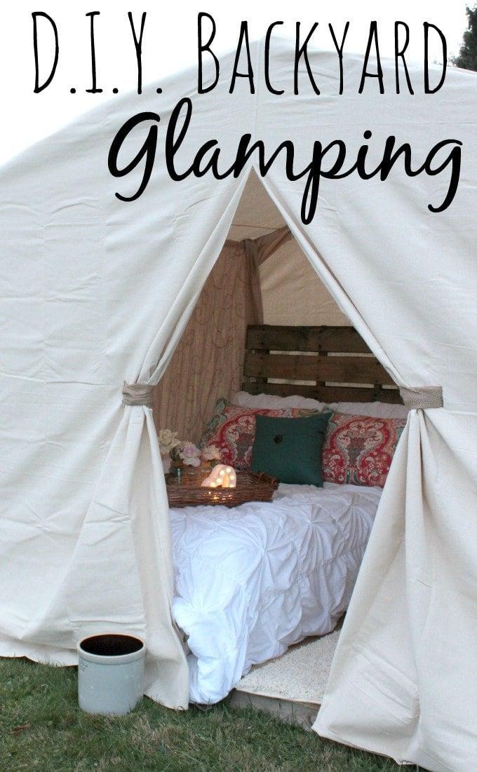 DIY Backyard Glamping #FallGlamping #ad