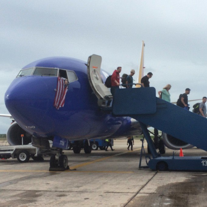 The Southwest inaugural flight to Belize lands in Belize City to much fanfare
