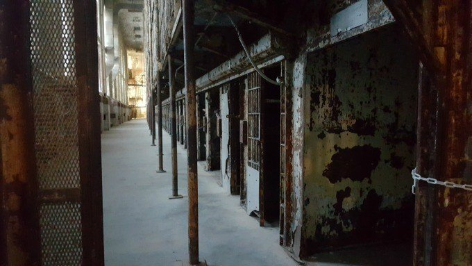 The East Cell Block inside the Ohio State Reformatory
