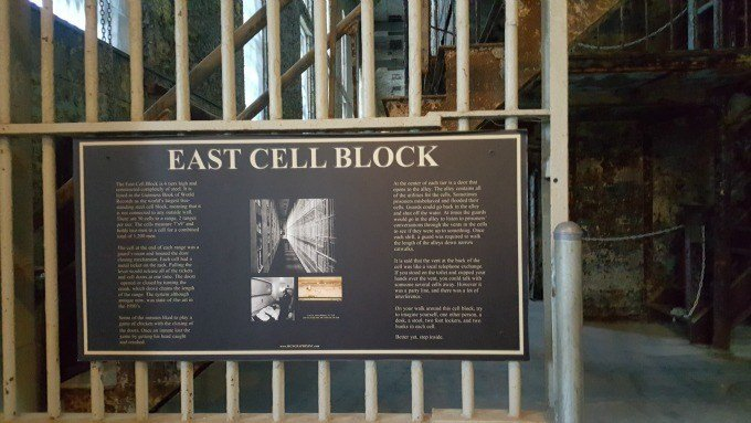 The East Cell Block once housed 1200 men.