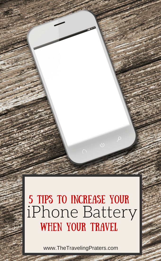 5 Tips to Increasing your iPhone Battery when you Travel