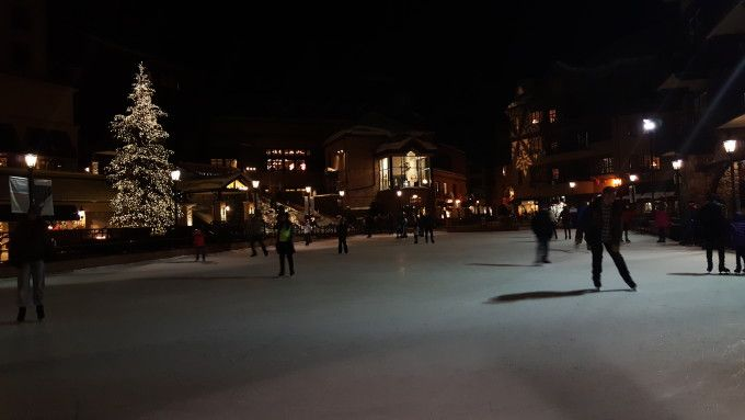 Guests can ice skate at the Beaver Creek Village plaza, a short walk from The Charter at Beaver Creek.
