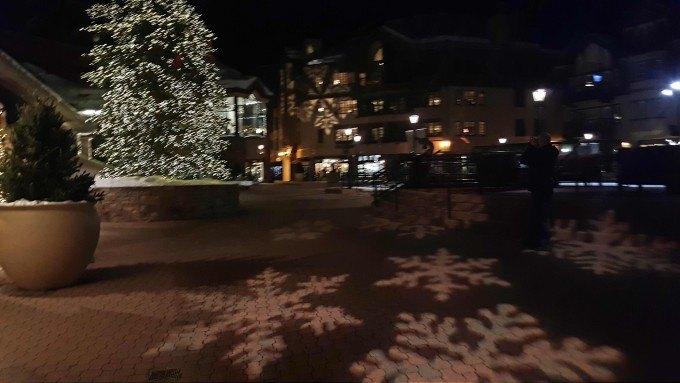 Downtown Beaver Creek looks like a winter wonderland.