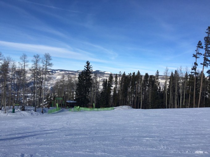 Beautiful blue skies at Beaver Creek Mountain.