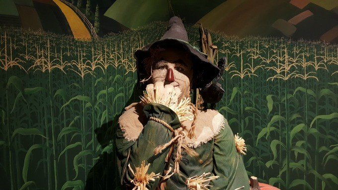 The Scarecrow from The Oz Museum in Wamego, Kansas.