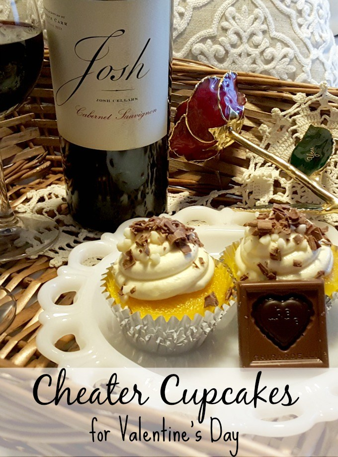Cheater Cupcakes for Valentine's Day