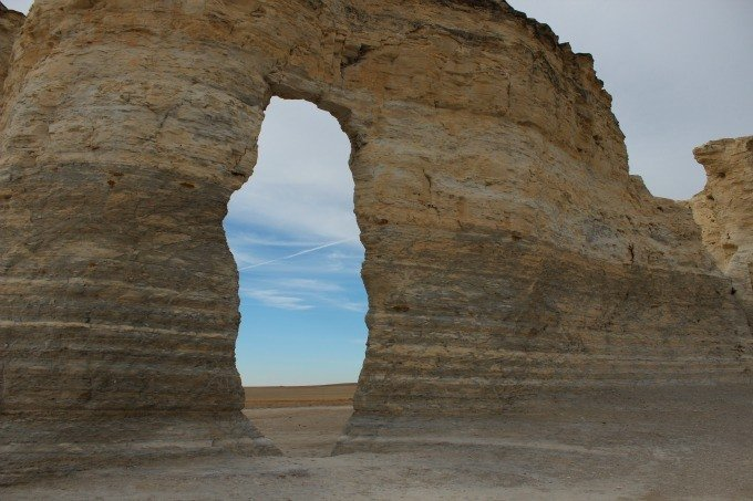 Monument Rocks near Grinnell, Kansas.