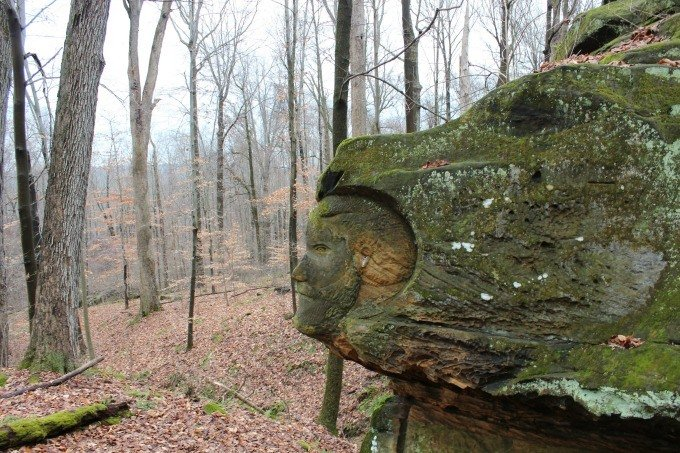 More stone carvings at Worden's Ledges