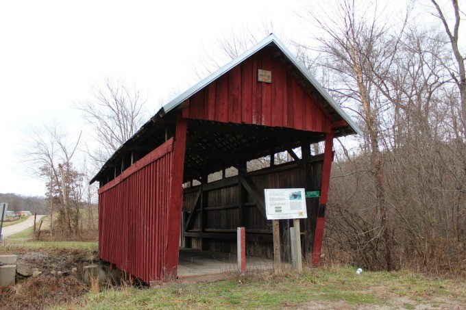 The Cox Bridge- one of four Covered Bridges in Vinton County near Hocking Hills in Ohio.