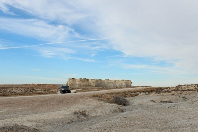 The Ford Expedition at Monument Rocks in Kansas.