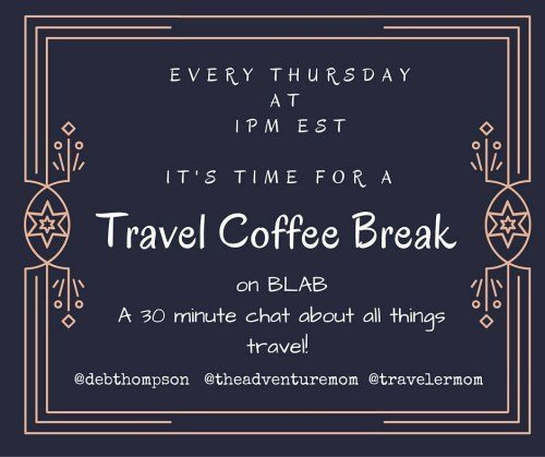 Join us each Thursday at 1pm EST for a 30-minute Travel Coffee Break.