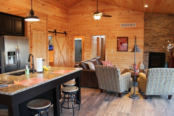 Living Space in the Bookers Cabin