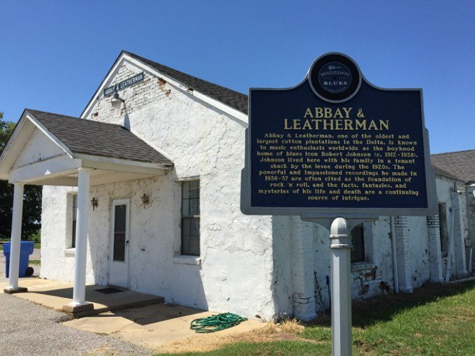 Leatherman historical marker on the Mississippi Blues Trail