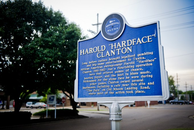 The Hardface Historical Marker on the MS Blues Trail in Tunica