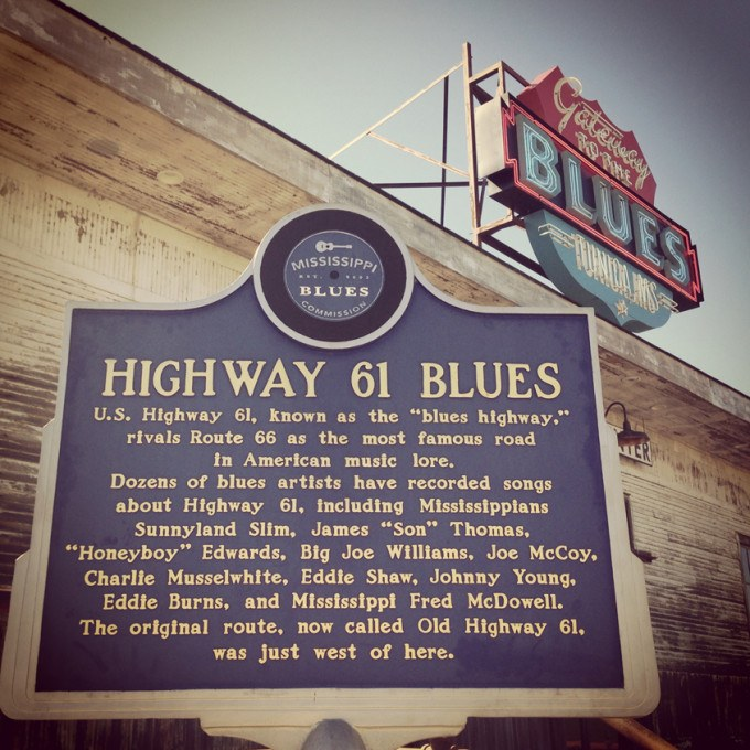 Mississippi Blues Trail Historical Marker on Highway 61