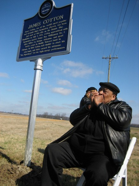 James Cotton Historical Sign on the MS Blues Trail