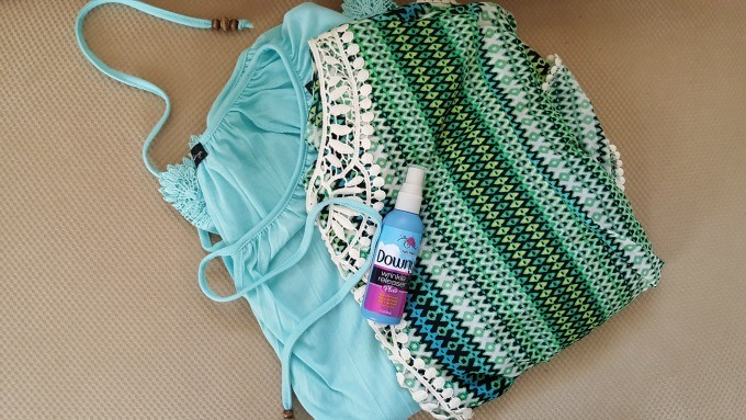 Pack Downy Wrinkle Releaser Plus when you travel to keep your clothes wrinkle, odor and static free.