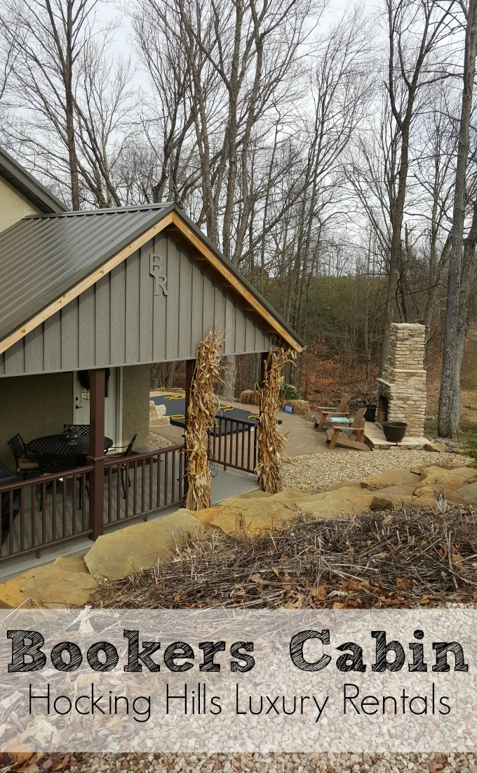 Bookers Cabin is one of Hocking Hills Luxury Rentals- a great cabin for a romantic getaway for two.