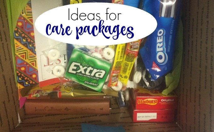 Ideas for Care packages