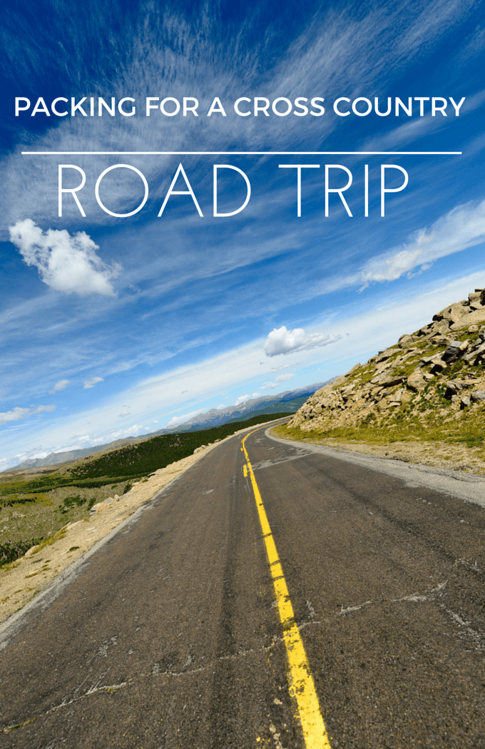 Tips for packing for a cross country road trip