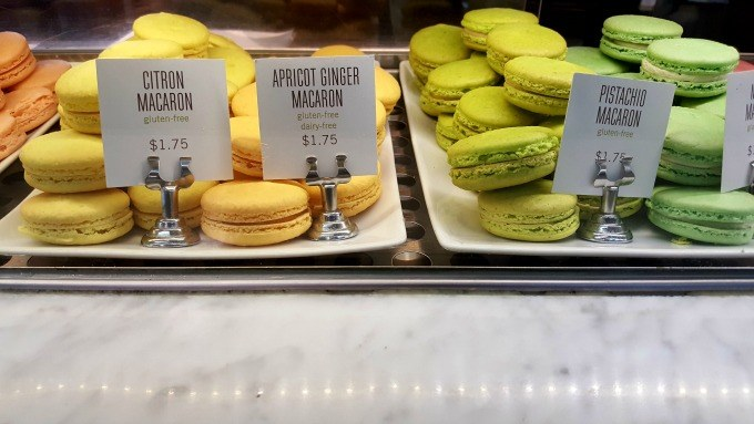 Macarooms from Pistacia Vera in the North Market