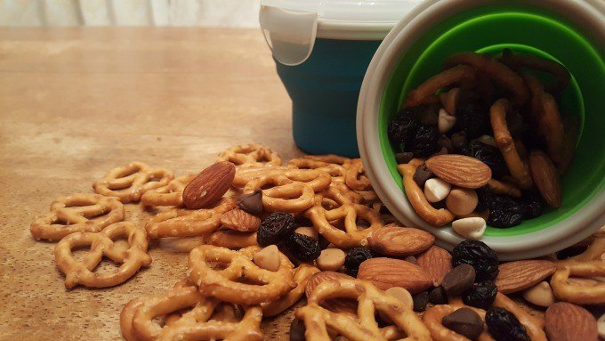 Store your road trip snack mix in ecovessel containers.