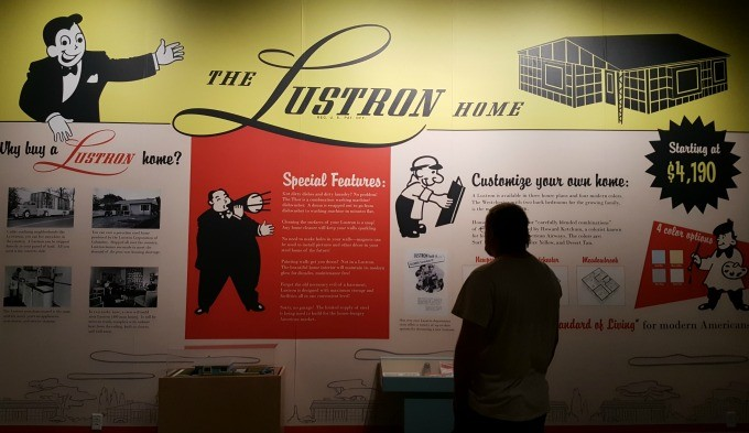 The Lustron Home exhibit at the Ohio History Center in Columbus, Ohio