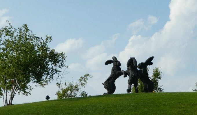 The Giant Dancing Hares of Dublin Roadside Attraction