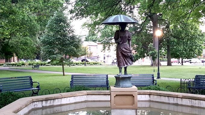 umbrella fountain