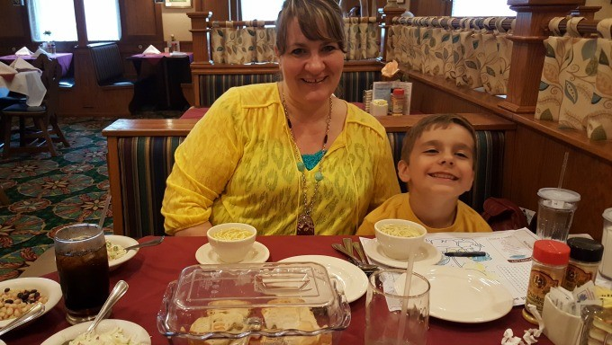 Eating at the Frankenmuth Bavarian Inn Restaurant