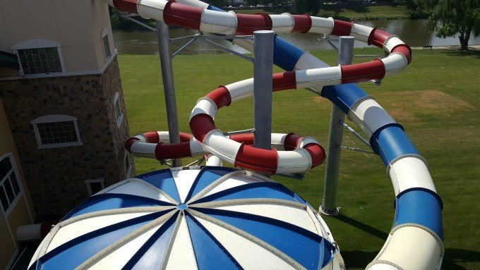 Waterslides at the Frankenmuth Bavarian Inn Lodge