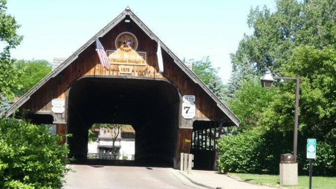 covered bridge in Frankenmuth