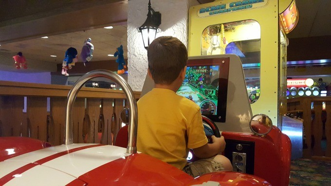 playing in the fun center
