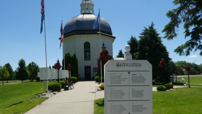 The Silent Night Chapel in Frankenmuth is a replica of the chapel in Austria