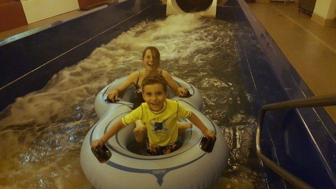 the waterslide at the Bavarian Inn Lodge in Frankenmuth is so much fun