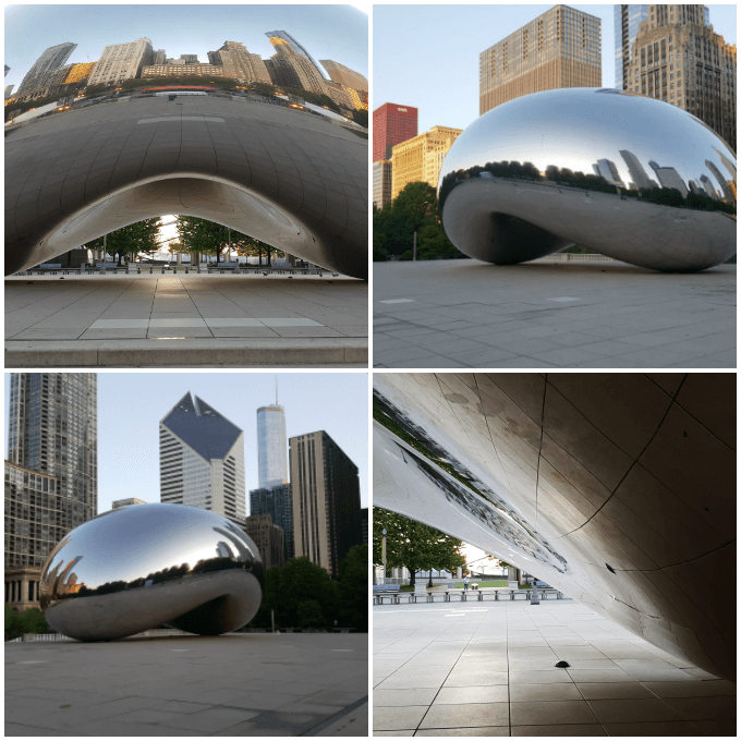 A few photos of the Chicago Bean otherwise known as Cloud Gate in Millennium Park.